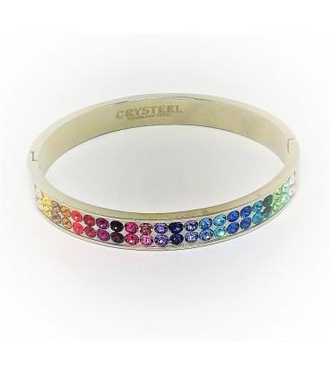 Bracelet cristaux Swarovski 7 chakras