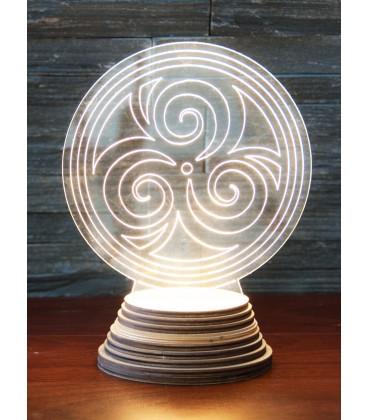 Lampe d'ambiance Triskel éclairage LED