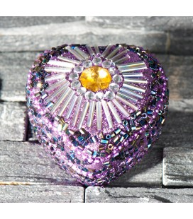 Boite à bijoux coeur - Violet