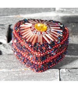 Boite à bijoux coeur - Rouge