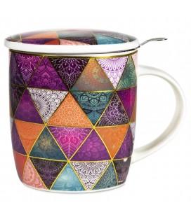 Mug à thé infuseur Patchwork