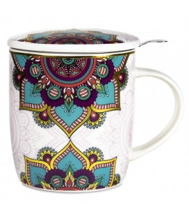 Mug à thé infuseur Mandalas