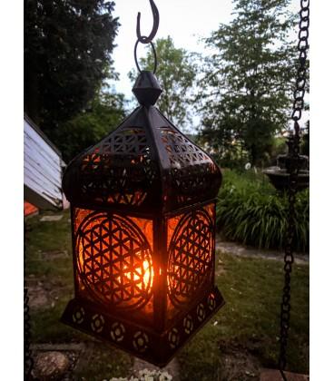 Lampe Fleur de Vie déco antique