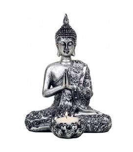 Statue Bouddha avec bougeoir
