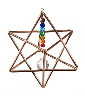 Suspension Merkabah et cristaux