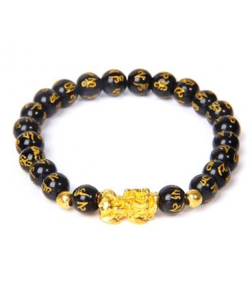 Bracelet Feng Shui Noir et Or