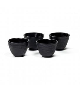 Ensemble de 4 tasses en fonte Tetsubin style Japonais