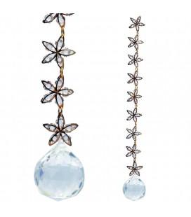 Suspension Feng Shui cristal et étoiles