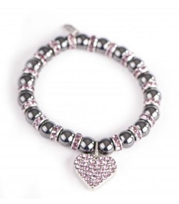 Bracelet magnétique coeur