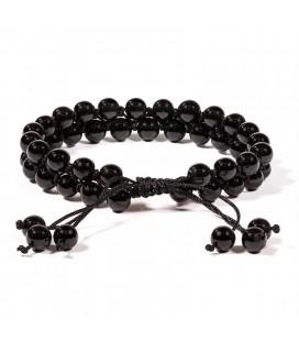 Bracelet en Agate Noire 6 mm