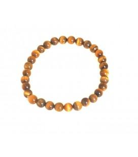 Bracelet boules oeil de tigre- 6mm