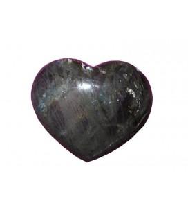 Coeur en Labradorite de 10cm