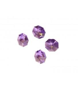 Lot de 4 petits cristaux forme diamant mauve