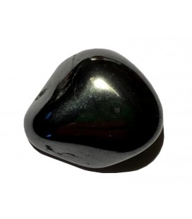 Pendentif pierre plate hématite vendu avec cordon
