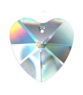 Cœur en cristal multifacettes de 28mm
