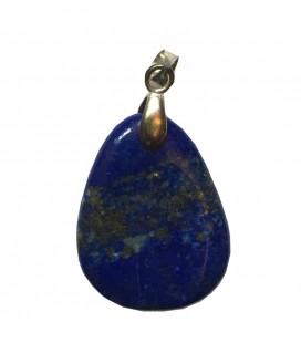 Pendentif pierre plate lapis lazuli