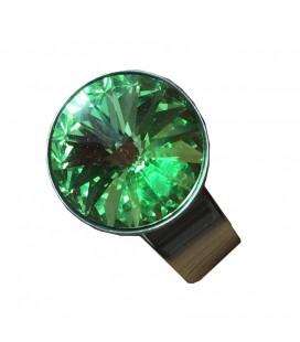 Bague cristal Swarovski vert