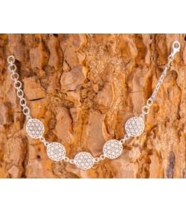 Bracelet fleur de vie en argent