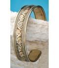 Bracelet santé cuivre et laiton finement décoré