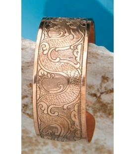 Bracelet Dragon en cuivre-laiton